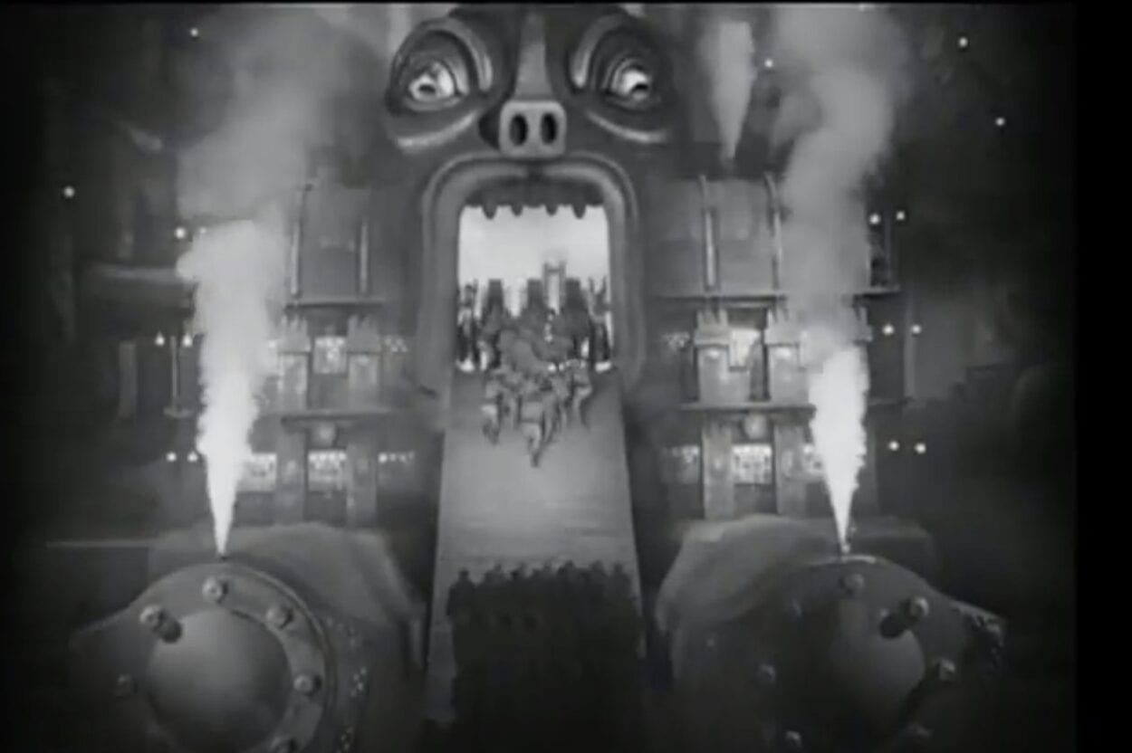 Moloch eating the workers