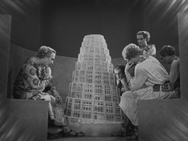 The architects gazing at a model of Babel