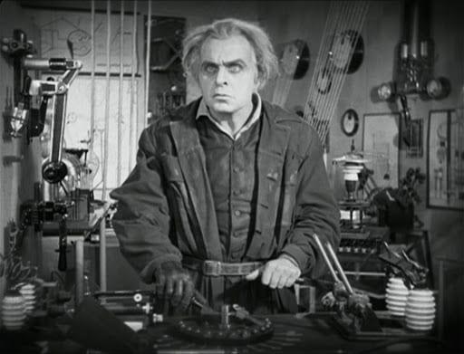 Rotwang in his lab