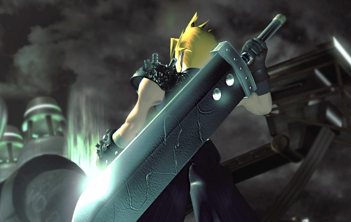 Cloud and a crazy large sword