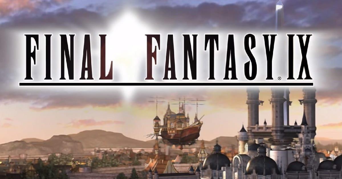 Final Fantasy IX title featuring the skyline of Alexandria