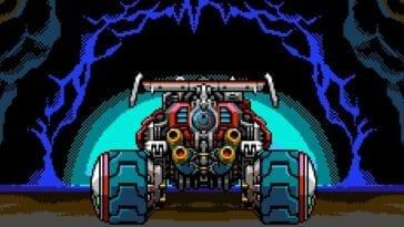 Jason's vehicle, SOPHIA III in a tunnel.