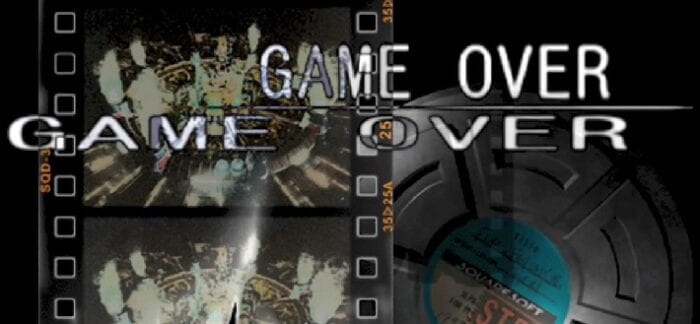 Game Over screen with film canisters