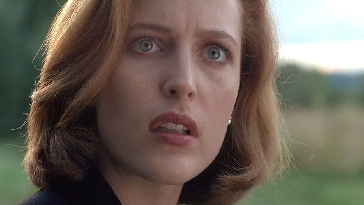 Scully, looking alarmed about something
