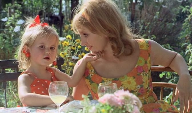 Theresa with her daughter in Le Bonheur