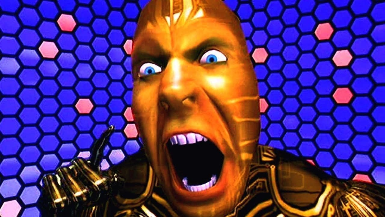 The VR representation of The Lawnmower Man