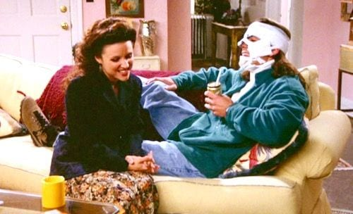 Elaine dumps Tony after he falls from a cliff