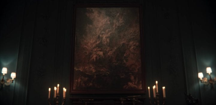 The painting of tortured souls in Adam's chamber in Dark