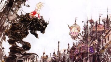 Cover art for Final Fantasy 6 features Terra looking over a city in a Magitek suit