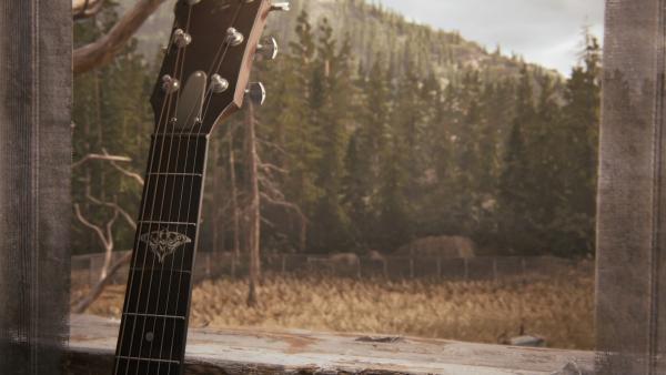 To show Joel's guitar