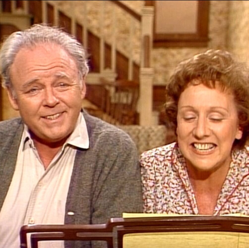 Archie and Edith at the piano, from the opening credits of the show