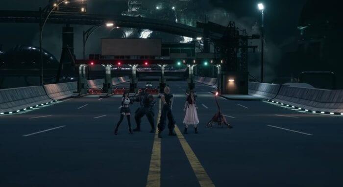 The final scene of FFVII Remake