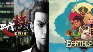The Yakuza Kiwami and Earthlock cover art.