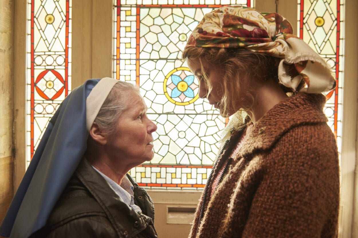 Sister Claire and Magda have a private chat.