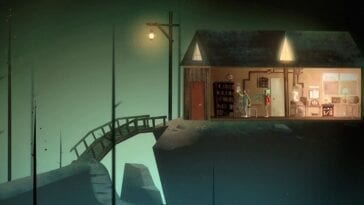 The art style of Oxenfree is a moody, stylishly animated world similar to Night in the Woods