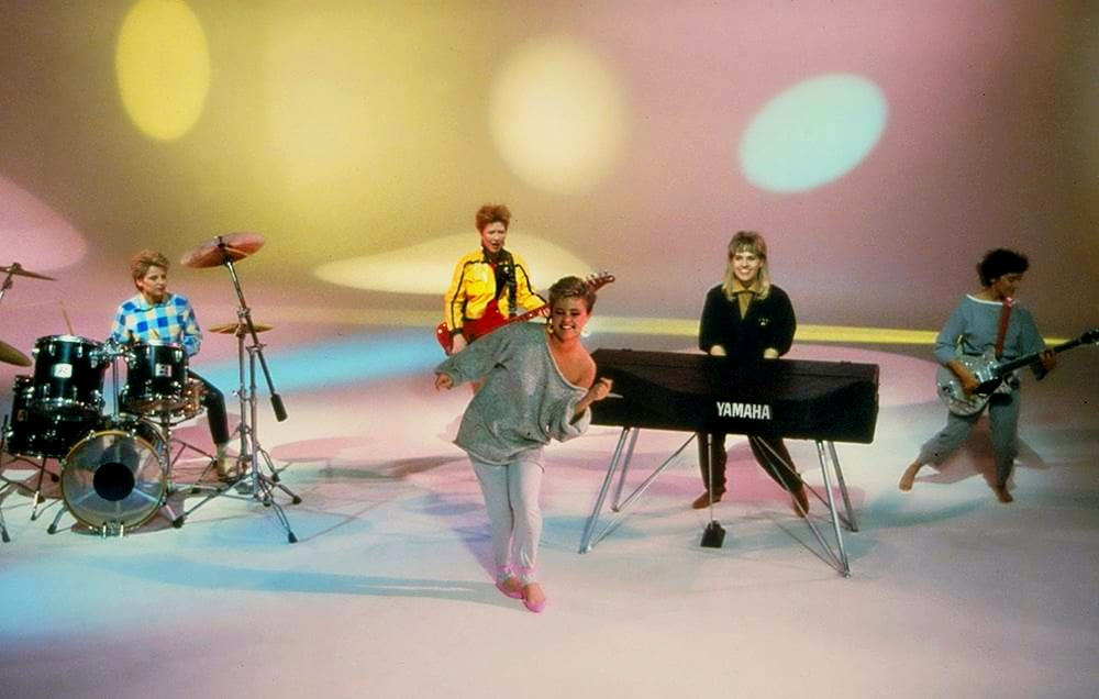 "The Go-Go's perform in the 'Head Over Heels"" music video"