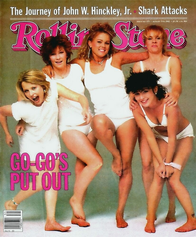 The Go-Go's appear on the cover of the August 5, 1982, issue of Rolling Stone magazine