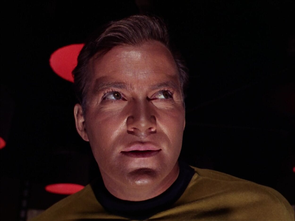 The evil Captain Kirk looks for his enemies