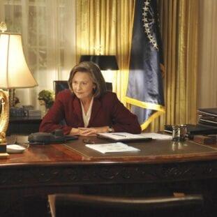 Allison Taylor sits at her desk