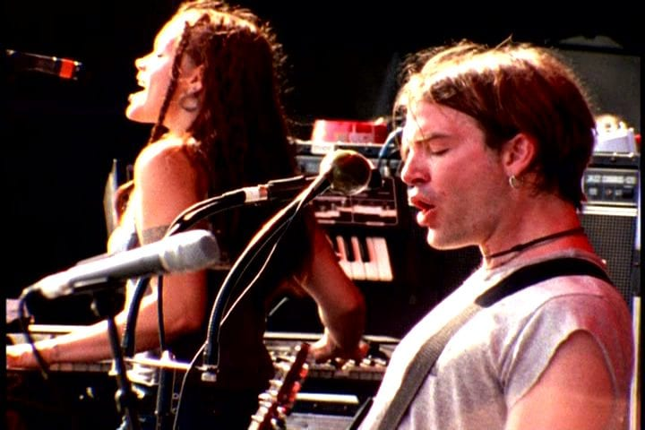 Courtney Taylor-Taylor and Zia McCabe of the Dandy Warhols