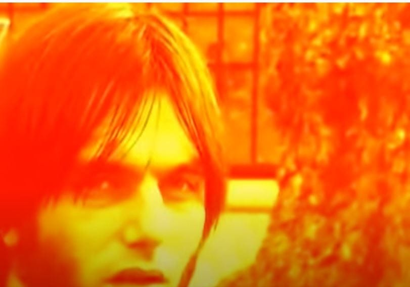 Anton Newcombe from The Brian Jonestown Massacre in orange light