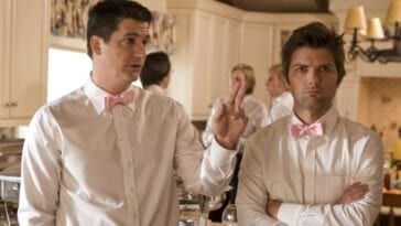 Adam Scott and Ken Marino in a scene from Party Down