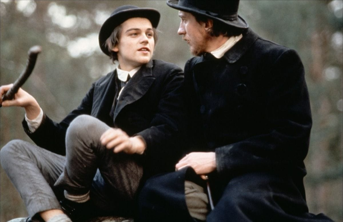 Rimbaud and Verlaine travelling in a cart