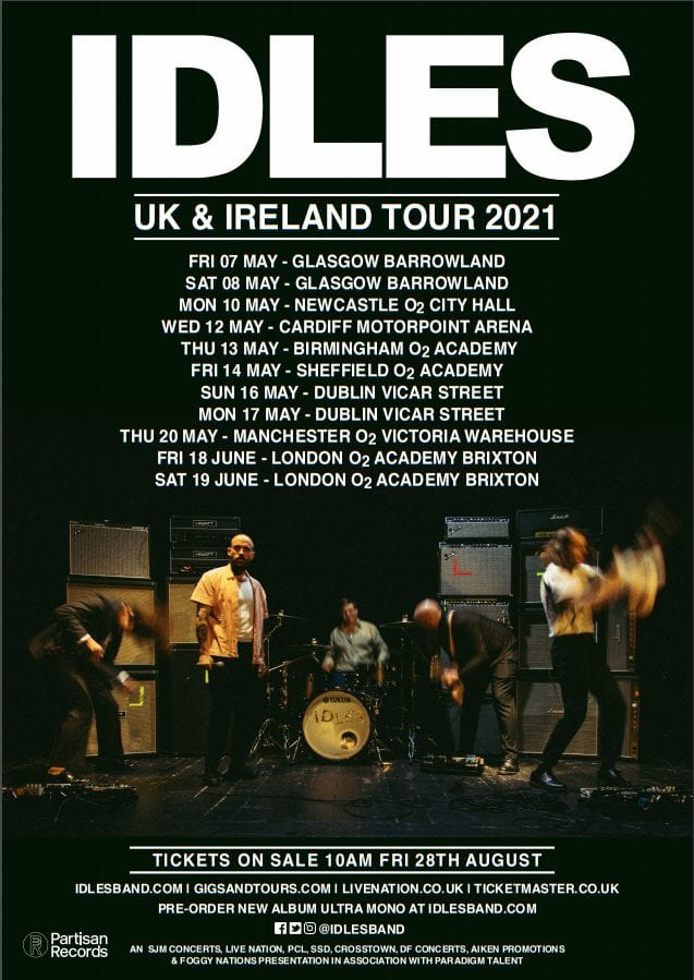 It's Coming! IDLES Release Dates of Massive 2021 UK Tour | 25YL