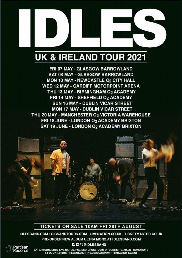 IDLES Tour 2021 poster