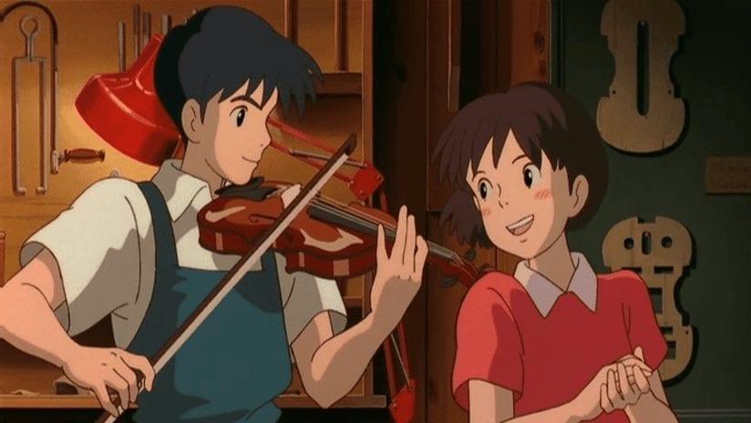 Seiji accompanies Shizuku on his violin