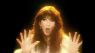 Kate Bush asks to be let in through Heathcliffe's window