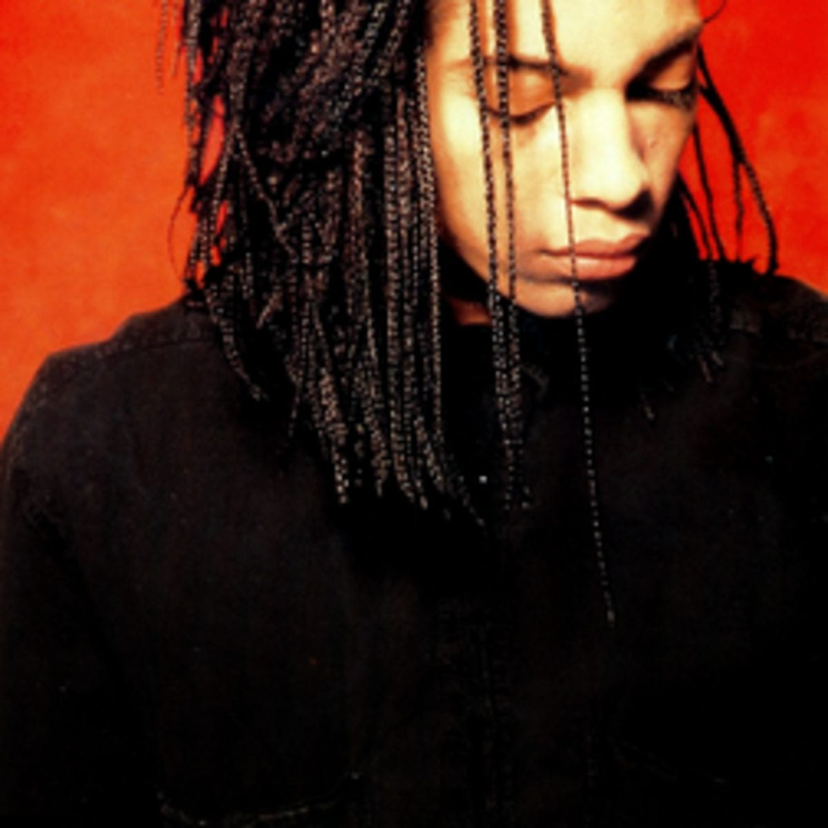 Terence Trent D'Arby with his eyes closed