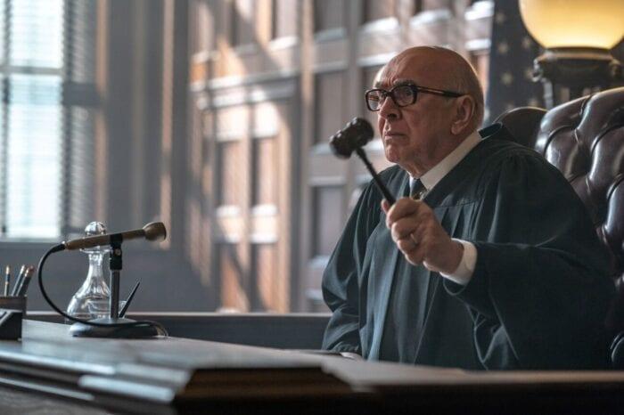 Judge Julius Hoffman prepares to drop his gavel in court.