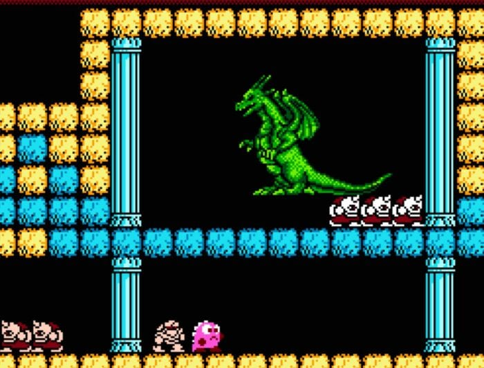 Keela the dragon is visible early in the game Legacy of the Wizard