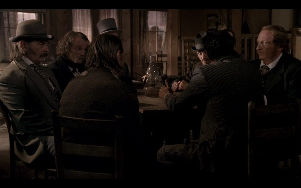 The influential men of Deadwood prepare for the Smallpox outbreak.
