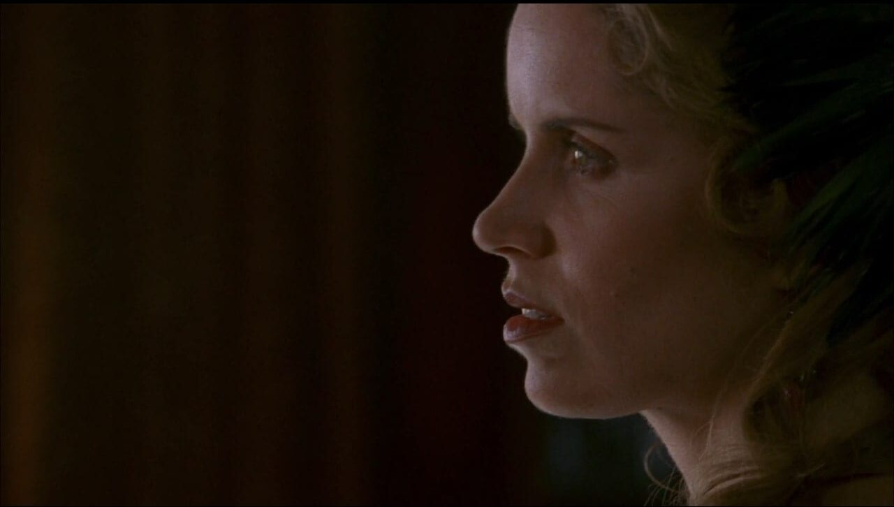 side profile of Joanie Stubbs (Kim Dickens)