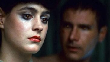 Rachel and Deckard, both eyes shining