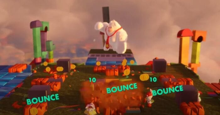 Boss battle from Mario Rabbid Kingdom Battles