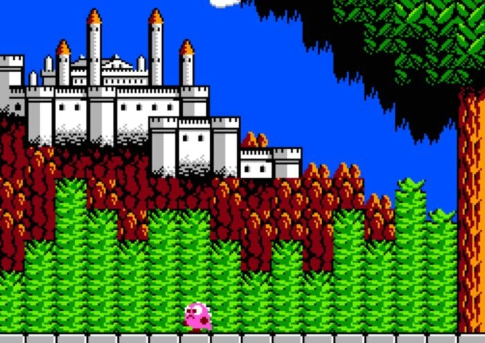 Screenshot from Legacy of the Wizard, featuring a distant castle in the background