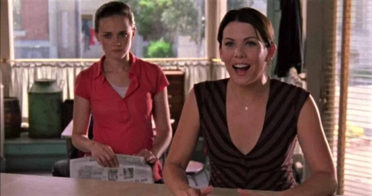 Lorelai and Rory at the diner counter