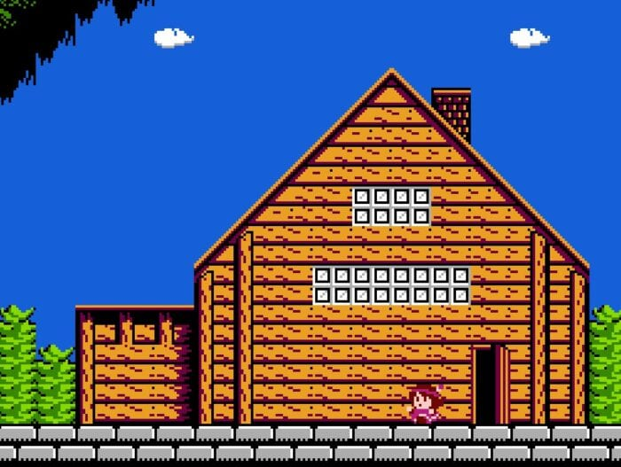 The family home from the NES game Legacy of the Wizard