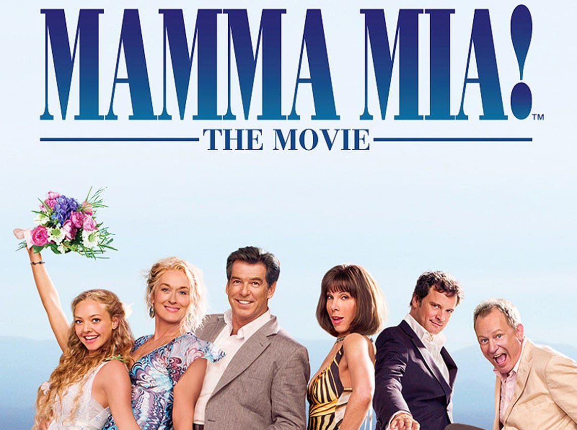 The cast of Mamma Mia! on a movie poster