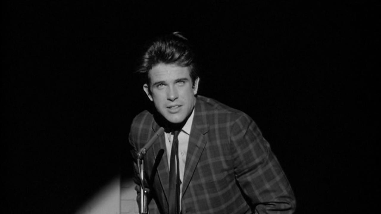 Warren Beatty as 'Mickey' in Mickey One