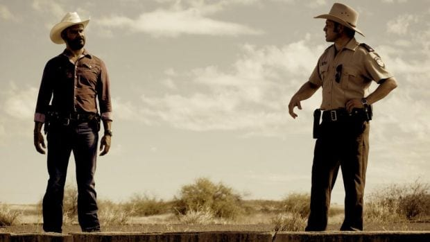 Aaron Pedersen as Detective Jay Swan in Mystery Road