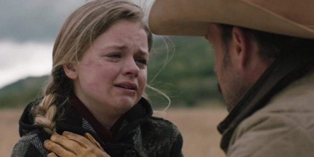 Young Beth and Young John in Yellowstone