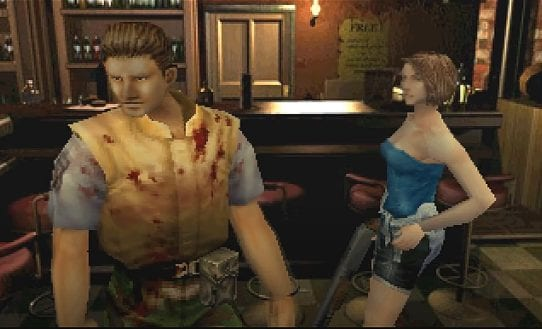Brad Vickers meets Jill in a bar, right before his savage death