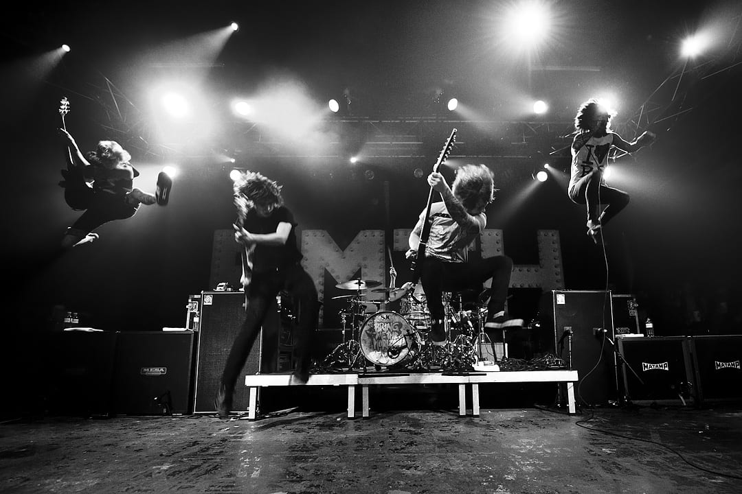 Bring-Me-The-Horizon band photo on stage