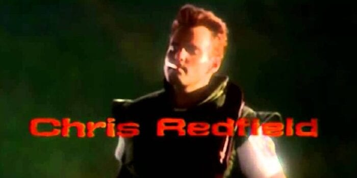 Chris Redfield smoking