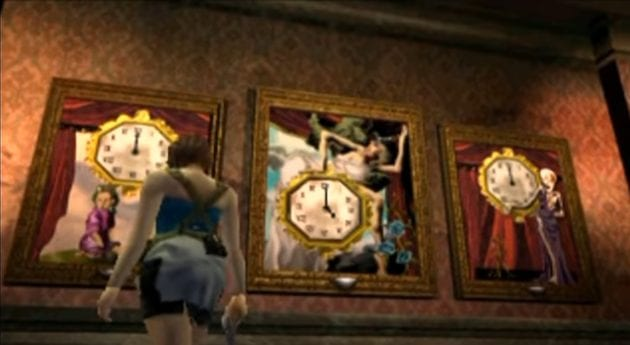 Jill looks over a clock puzzle