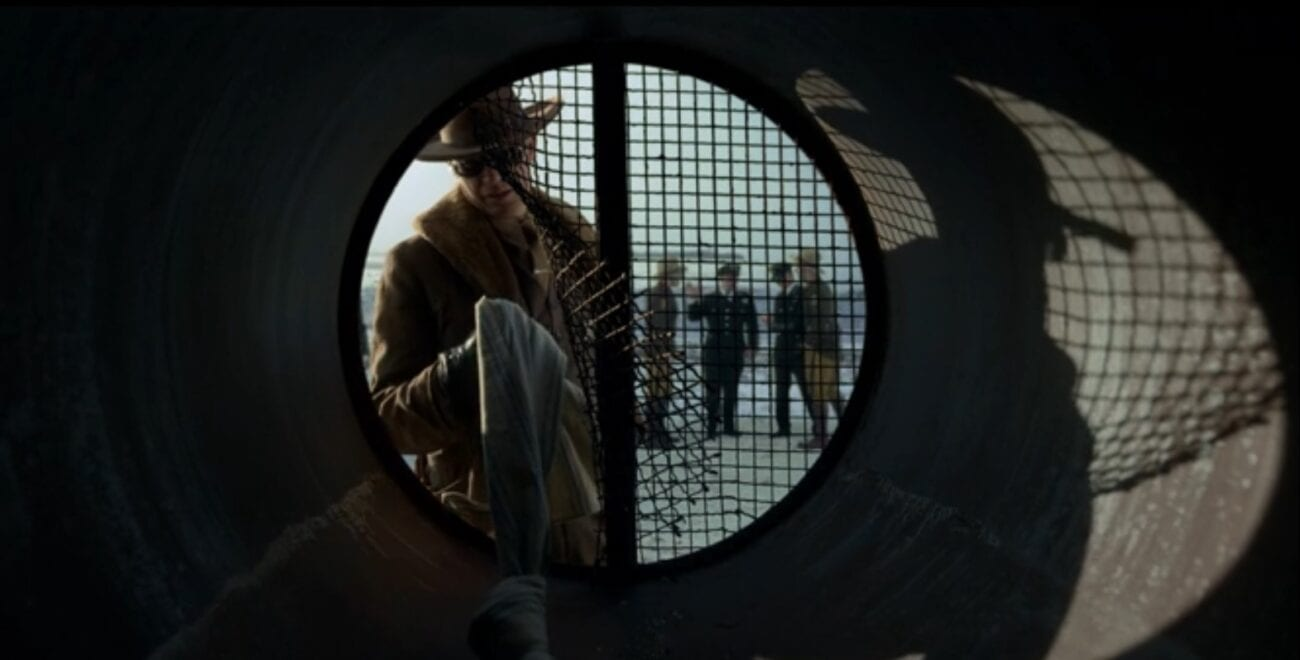 Deafy (Timothy Olyphant) finds evidence of escapes convicts in a sewer pipe